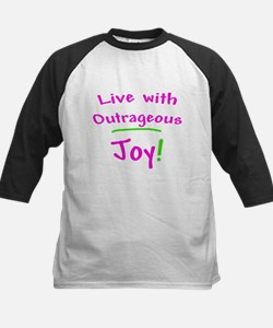 Pink Live With Outrageous Joy Kids Baseball Jersey