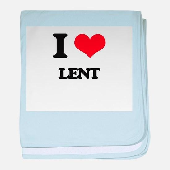 I Love Lent baby blanket