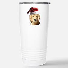 cute golden reriever wi Travel Mug