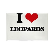 I Love Leopards Magnets