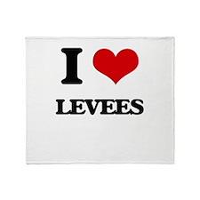 I Love Levees Throw Blanket