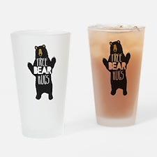 FREE BEAR HUGS Drinking Glass