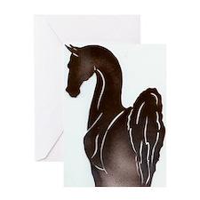 Saddlebred Pose Greeting Cards