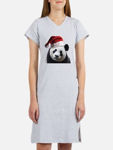 Santa Panda Bear Women's Nightshirt