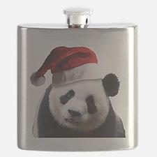 Santa Panda Bear Flask