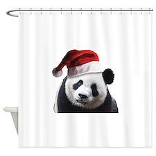 Santa Panda Bear Shower Curtain