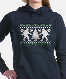 NEW! Bigfoot Ugly Christmas Sweater Women's Hooded