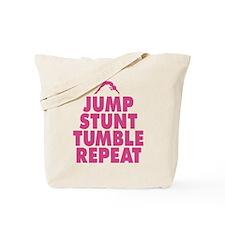 Jump Stunt Tumble Repeat Tote Bag
