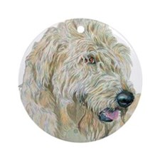 Cream Labradoodle Ornament (Round)