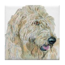 Cream Labradoodle Tile Coaster