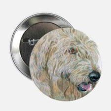 """Cream Labradoodle 2.25"""" Button (10 pack)"""