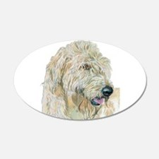 Cream Labradoodle Wall Decal