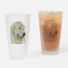 Cream Labradoodle Drinking Glass