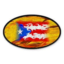 PR Flag Oval Decal