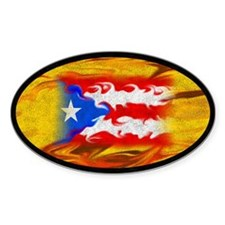 PR Flag Oval Stickers