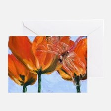 Dragonfly with Tulips Greeting Cards (Pk of 10