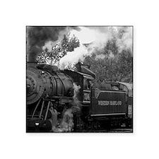 """Steam Train Square Sticker 3"""" x 3"""""""