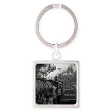 Steam Train Square Keychain