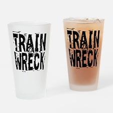 Train Wreck Drinking Glass