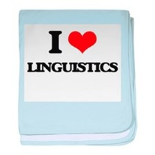 I Love Linguistics baby blanket
