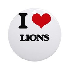 I Love Lions Ornament (Round)