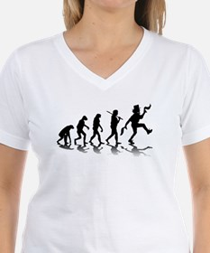 Evolution Of Morris Dancing Women's V-Neck T-S