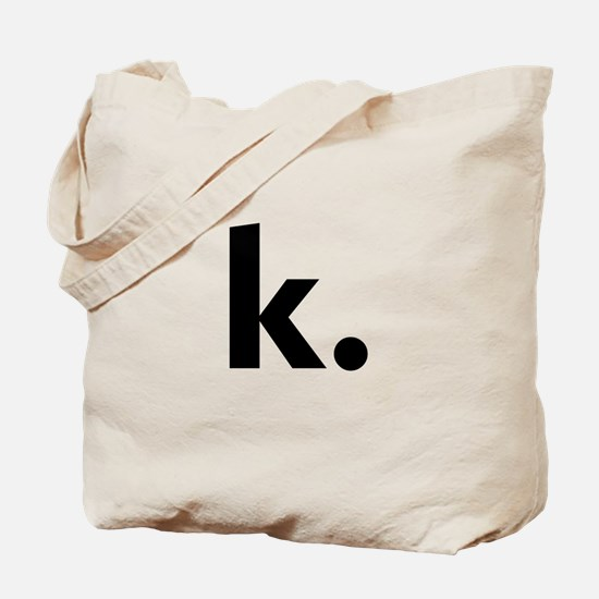 Cute Letter k Tote Bag
