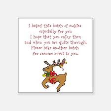Christmas Poem Plate Sticker
