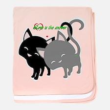 Cutesy Cutey Cats baby blanket