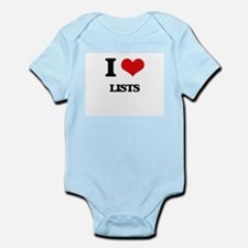 I Love Lists Body Suit