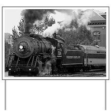 Steam Train Yard Sign