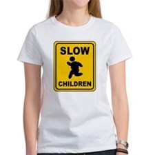 Slow Chubby Children Warning Sign T-Shirt