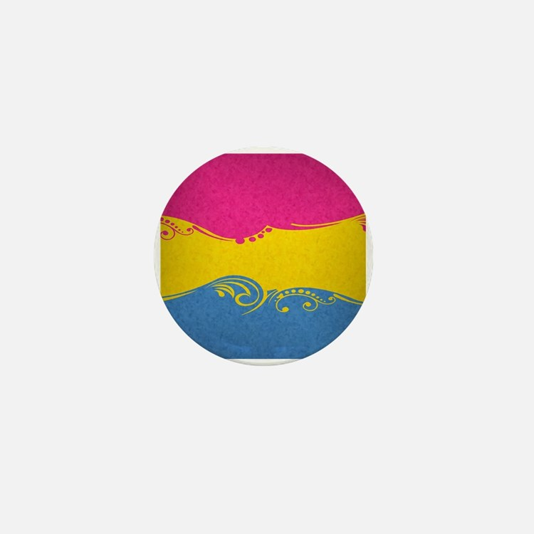 Pansexual Ornamental Flag Mini Button