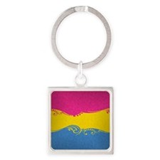 Pansexual Ornamental Flag Square Keychain