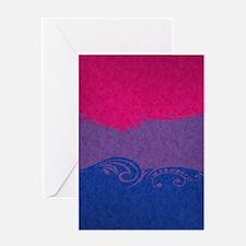 Bisexual Ornamental Flag Greeting Card