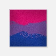 "Bisexual Ornamental Flag Square Sticker 3"" x 3"""