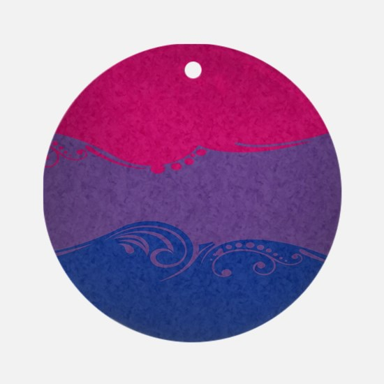 Bisexual Ornamental Flag Ornament (Round)