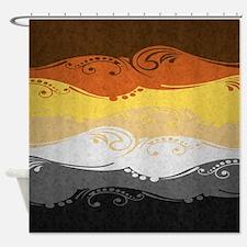 Bear Ornamental Flag Shower Curtain