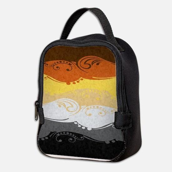 Bear Ornamental Flag Neoprene Lunch Bag
