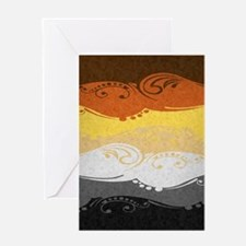 Bear Ornamental Flag Greeting Card