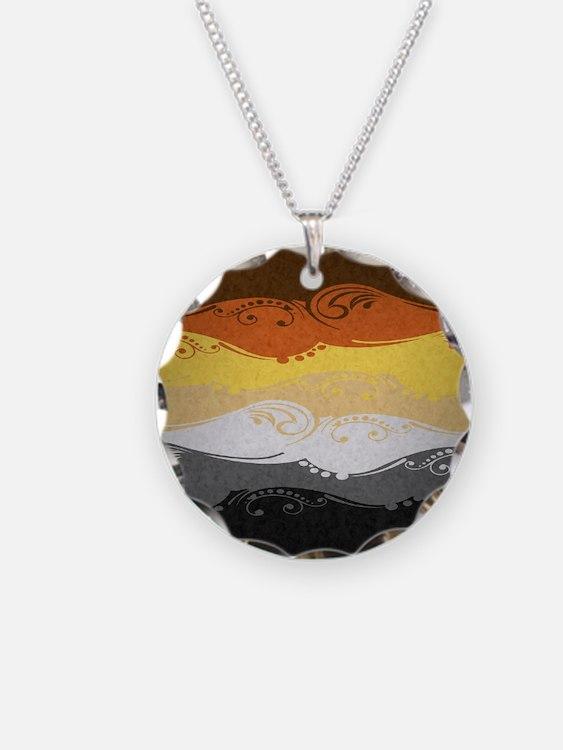 Bear Ornamental Flag Necklace