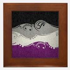 Asexual Ornamental Flag Framed Tile