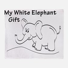 Unique Christmas elephant Throw Blanket