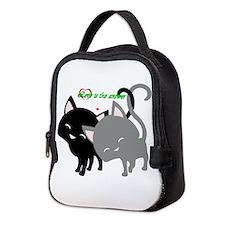 Cutesy Cutey Cats Neoprene Lunch Bag