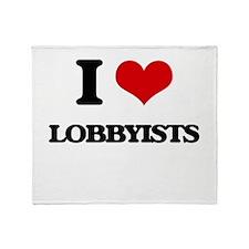 I Love Lobbyists Throw Blanket