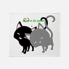 Cutesy Cutey Cats Throw Blanket