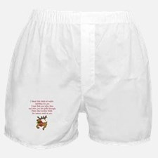 Christmas Poem Plate Boxer Shorts