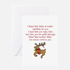 Christmas Poem Plate Greeting Cards