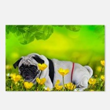 pug thong flowers Postcards (Package of 8)