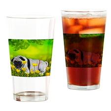 pug thong flowers Drinking Glass